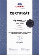 Absolvovali certifikační školení a úspěšně složili certifikační test společnosti URSA CZ