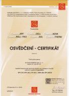 Osvědčení o absolvování technického školení pro instalaci a montáž solárních systémů CosmoSOL