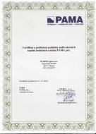 Certifikát o proškolení pokládky nadkrokevních tepelně izolačních systémů PAMA