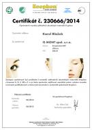 Cesrtifikát od Saint-Gobain Ecophon AB