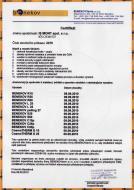 Certifikát od společnosti BENECOVterm s.r.o.