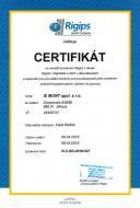Certifikát na montáž konstrukcí suché výstavby Rigips
