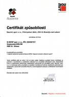 Certifikát způsobilosti k provádění tepelně izolačních systémů Baumit EPS-F, Baumit minerál a Baumit open